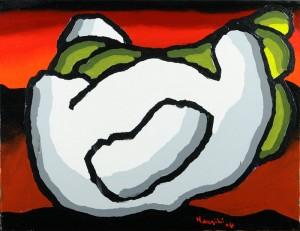 """""""Amplesso2"""", 2004 - acrilico su tela, 35x45 cm"""