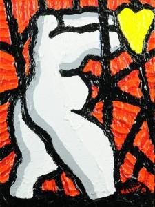 """""""Cuore sacro"""", 2009 - acrilico su tela, 30x40 cm"""