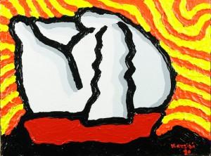 """I pensieri del viaggiatore"", 2010 - acrilico su tela, 30x40 cm"