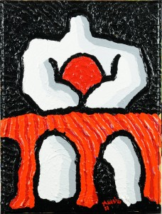 """""""Dio denaro"""", 2011 - acrilico su tela, 30x40 cm"""