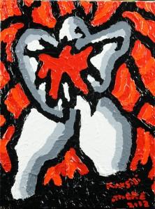 """""""Dolore dell'anima"""", 2012 - acrilico su tela, 30x40 cm"""