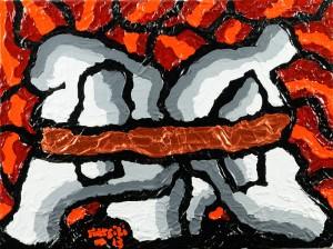 """""""Incomunicabilità-comunicabilita"""", 2013 - acrilico su tela, 30x40 cm"""