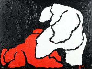 """""""Senza pietà"""", 2014 - acrilico su tela, 60x80 cm"""
