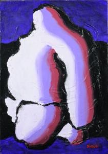 """""""Guerriero"""", 1998 - acrilico su tela, 25x35 cm"""