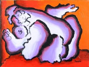 """""""Amplesso"""", 1998 - acrilico su tela, 30x40 cm"""