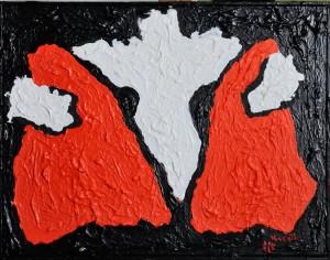 """Sansone"", 2017 - acrilico su tela, 40x50 cm"
