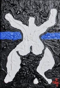 """""""Concerto per il Paradiso"""", 2017 - acrilico su tela, 25x35 cm"""