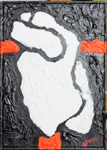 """""""Solitudine straniera"""", 2017 - acrilico su tela, 25x35 cm"""