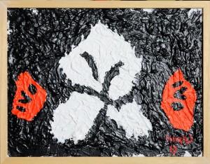 """""""Solo onore per i morti di guerra"""", 2017 - acrilico su tela, 30x40 cm"""